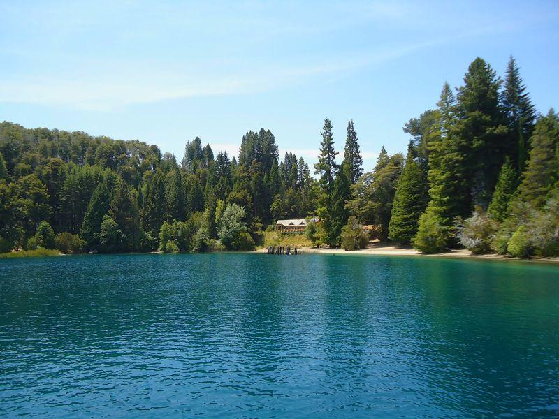 paisaje lago y bosques barilooche